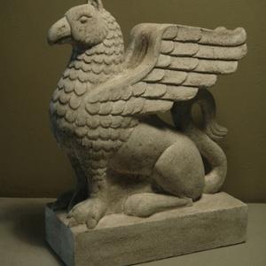 Griff szobor, könyvtámasz, Dekoráció, Otthon & lakás, Képzőművészet, Dísz, Szobrászat, A Griff legendás mitológiai állat, a sas (égi) és az oroszlán (földi) keveréke, az isteni és az embe..., Meska
