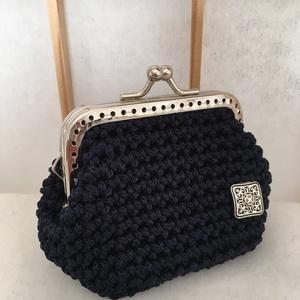 Női pénztárca, Aprópénztartó, Pénztárca & Más tok, Táska & Tok, Horgolás, Stílusos kiegészítőként készült kis pénztárca (érmetartó) minden női táskába: ideális apró ajándék, ..., Meska
