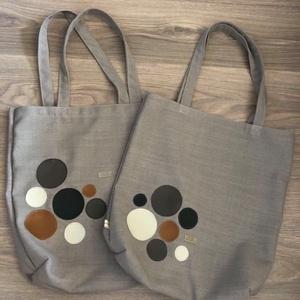 NoWaste vászon bevásárló táska, Táska, Divat & Szépség, Táska, Szatyor, Varrás, Erős vászon bevásárló táska, kör mintákkal, azokból a különböző anyagdarabokból, melyekből táskáim k..., Meska