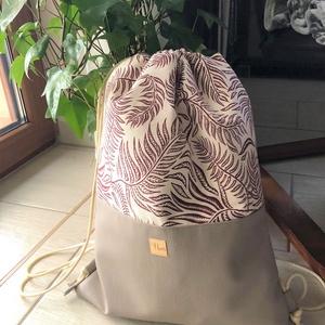 Gym bag, behúzós hátitáska, Táska & Tok, Hátizsák, Gymbag, Varrás, Gym bag, divatos behúzós hátitáska, textilbőr és erős, mintás vászon anyagokból. Belül PUL anyag bél..., Meska