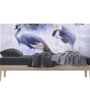 Madarak a felhők között Nyomtatott Műbőr Falvédő, Otthon & Lakás, Dekoráció, Fotó, grafika, rajz, illusztráció, Famegmunkálás, Ingyenes szállítás!\nTeljes Méret: 200 x 75 cm\n1 db panel: 25 x 25 cm \nVastagság: 2 cm (1 cm faforgác..., Meska