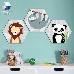 3 db-os babaszoba dekoráció, fali kép - választható állatokkal, Falra akasztható dekor, Dekoráció, Otthon & Lakás, Fotó, grafika, rajz, illusztráció, Hexart Design - Az okos dekoráció\nNincs szükség keretre / Kasírozott habkarton / Egy mozdulattal fel..., Meska