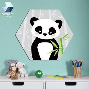 Panda - babaszoba dekoráció, Gyerek & játék, Gyerekszoba, Baba falikép, Fotó, grafika, rajz, illusztráció, Hexart Design - Az okos dekoráció\nNincs szükség keretre / Kasírozott habkarton / Egy mozdulattal fel..., Meska