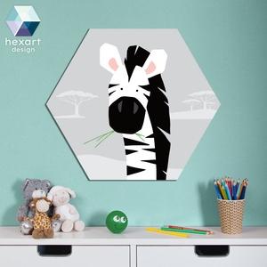 Zebra - babaszoba dekoráció, Gyerek & játék, Gyerekszoba, Baba falikép, Fotó, grafika, rajz, illusztráció, Hexart Design - Az okos dekoráció\nNincs szükség keretre / Kasírozott habkarton / Egy mozdulattal fel..., Meska