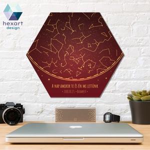 Csillagtérképes emlékőrző dekoráció, egyedi szöveggel, Otthon & lakás, Dekoráció, Kép, Lakberendezés, Falikép, Fotó, grafika, rajz, illusztráció, Hexart Design - Az okos dekoráció\nNincs szükség keretre / Kasírozott habkarton / Egy mozdulattal fel..., Meska