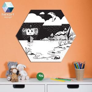 A bátor viking hajó - babaszoba dekoráció, skandináv jellegű, Gyerek & játék, Gyerekszoba, Baba falikép, Fotó, grafika, rajz, illusztráció, Hexart Design - Az okos dekoráció\nNincs szükség keretre / Kasírozott habkarton / Egy mozdulattal fel..., Meska
