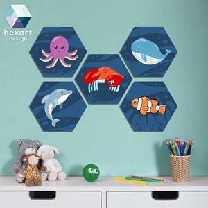 5 db-os babaszoba dekoráció - választható állatokkal, Gyerek & játék, Gyerekszoba, Baba falikép, Fotó, grafika, rajz, illusztráció, Hexart Design - Az okos dekoráció\nNincs szükség keretre / Kasírozott habkarton / Egy mozdulattal fel..., Meska