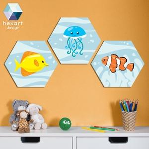 3 db-os babaszoba dekoráció - választható állatokkal, Gyerek & játék, Gyerekszoba, Baba falikép, Fotó, grafika, rajz, illusztráció, Hexart Design - Az okos dekoráció\nNincs szükség keretre / Kasírozott habkarton / Egy mozdulattal fel..., Meska