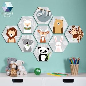 9 db-os babaszoba dekoráció - választható állatokkal, Gyerek & játék, Gyerekszoba, Baba falikép, Fotó, grafika, rajz, illusztráció, Hexart Design - Az okos dekoráció\nNincs szükség keretre / Kasírozott habkarton / Egy mozdulattal fel..., Meska
