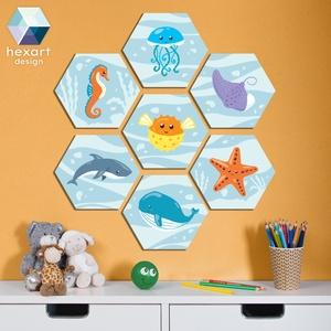 7 db-os babaszoba dekoráció - választható állatokkal, Gyerek & játék, Gyerekszoba, Baba falikép, Fotó, grafika, rajz, illusztráció, Hexart Design - Az okos dekoráció\nNincs szükség keretre / Kasírozott habkarton / Egy mozdulattal fel..., Meska