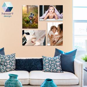 4 db-os fotó dekoráció a Te képeiddel, Otthon & lakás, Dekoráció, Képzőművészet, Fotográfia, Lakberendezés, Falikép, Kép, Fotó, grafika, rajz, illusztráció, Hexart Design - Az okos dekoráció\nNincs szükség keretre / Kasírozott habkarton / Egy mozdulattal fel..., Meska