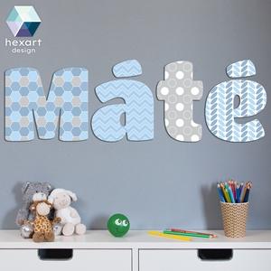 Egyedi fiú baba- ill. gyereknév dekor betűk, Betű & Név, Dekoráció, Otthon & Lakás, Fotó, grafika, rajz, illusztráció, Hexart Design - Az okos dekoráció\nEgy mozdulattal felrakható / Többször áthelyezhető / Nem hagy nyom..., Meska