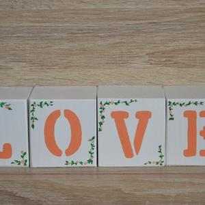 LOVE feliratos dekorkocka (HeyBabyDekor) - Meska.hu