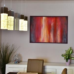 Nagy alakú, XXL, absztrakt, akril festmény, 100 x 70 cm (HisziArt) - Meska.hu