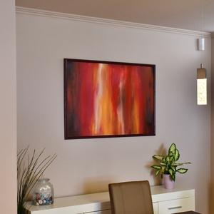 Nagy alakú, XXL, absztrakt, akril festmény, 100 x 70 cm, Otthon & lakás, Képzőművészet, Festmény, Akril, Napi festmény, kép, Festészet, Nagy alakú, akril festmény, egyedi, nem megismételhető, absztrakt, élénk színekkel festettem, farost..., Meska