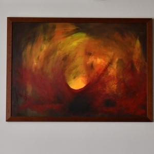 Nagy alakú, XXL, absztrakt, akril festmény, 100 x 70 cm , Otthon & lakás, Képzőművészet, Festmény, Akril, Festészet, Nagy alakú, akril festmény, egyedi, nem megismételhető, absztrakt, farost lemezre festettem, szép fa..., Meska