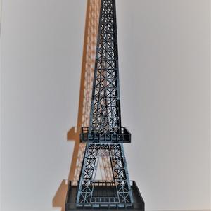 Fából készült Eiffel torony, elemekből összeragasztott, Otthon & Lakás, Kép & Falikép, Dekoráció, 3 mm-es falemezből lézervágással vágtam ki az a torony elemeit, amelyeket oldaluknál összeragasztott..., Meska