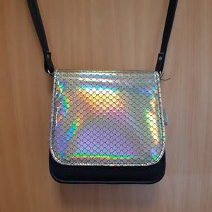 Saci sellő mintás kis táska, Táska & Tok, Vállon átvethető táska, Kézitáska & válltáska, Bőrművesség, Meska