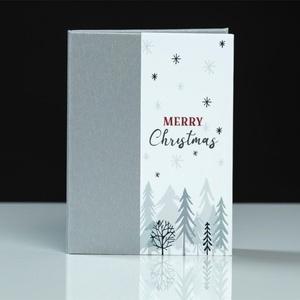 Karácsonyi leporelló – álló (ezüst-fehér), Otthon & Lakás, Papír írószer, Album & Fotóalbum, Könyvkötés, Karácsonyi leporelló 3 db 13×18 cm álló fotónak. A fényképek az öntapadós felületre könnyen felragas..., Meska