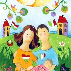 Mese NEKED! Mese RÓLAD!  (kicsi)- egyedi családi portré (Hokata) - Meska.hu