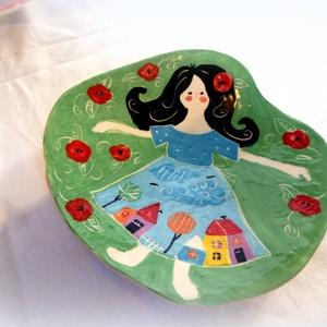 AKCIÓS-Kistányér- kézzel festett (Hokata) - Meska.hu