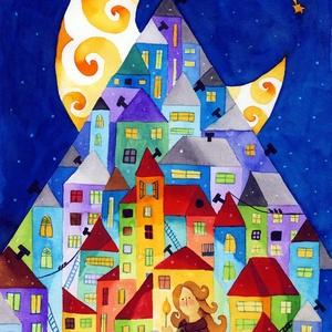 A kis gyufaáruslány - A4-as méretű nyomat, Otthon & lakás, Képzőművészet, Festmény, Akvarell, A4-es méretű (21 x30 cm) művészi nyomat, szignózva. 300 g -os műnyomó papíron. Két karton közé téve ..., Meska
