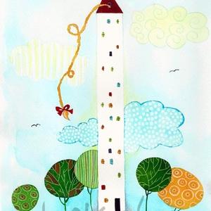 Gyere ki a toronyból- A4-as méretű nyomat, Művészet, Művészi nyomat, A4-es méretű (21 x30 cm) művészi nyomat, szignózva. 300 g -os műnyomó papíron. Két karton közé téve ..., Meska