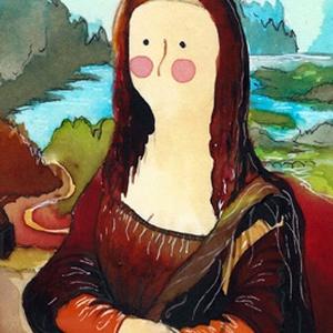 Mona Lisa- A4-as méretű nyomat, Otthon & lakás, Képzőművészet, Festmény, Akvarell, A4-es méretű (21 x30 cm) művészi nyomat, szignózva. 300 g -os műnyomó papíron. Két karton közé téve ..., Meska
