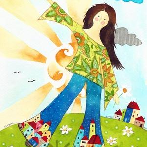 Woodstock- A4-as méretű nyomat, Otthon & lakás, Képzőművészet, Festmény, Akvarell, A4-es méretű (21 x30 cm) művészi nyomat, szignózva. Ezt a képemet megtalálod a Képzelet világa című ..., Meska