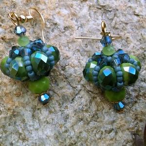Szultán kincse fülbevaló, gyöngy, gyöngyékszer, gyöngy fülbevaló - ékszer - fülbevaló - lógó fülbevaló - Meska.hu