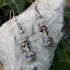 Lilac flower - ékszer - fülbevaló - lógó fülbevaló - Meska.hu