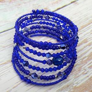 King blue karkötő, gyöngy, gyöngyékszer, ajándék, névnap, születésnap, Karácsony, Télapó, Húsvét, Nőnap - Meska.hu