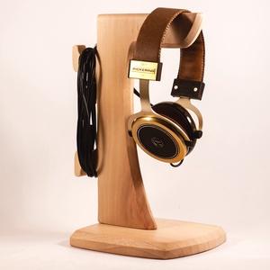 Fejhallgató tartó, fülhallgató tartó, Férfiaknak, Otthon & lakás, Lakberendezés, Tárolóeszköz, Famegmunkálás, Platánfából készült fejhallgató tartó.  Mérete:15x17x29cm     , Meska