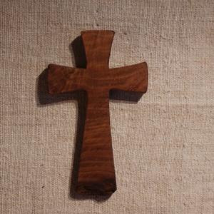Fakereszt , Kereszt, Spiritualitás & Vallás, Otthon & Lakás, Famegmunkálás, Tölgyfából készült, falra akasztható kereszt. \nMérete:19x12x2cm, Meska