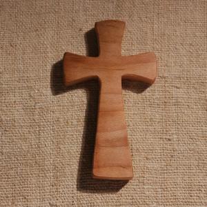 Fakereszt , Kereszt, Spiritualitás & Vallás, Otthon & Lakás, Famegmunkálás, Platánfából készült, falra akasztható kereszt.\nMérete:13x7.5x2cm, Meska