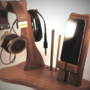 Fejhallgató, és mobil tartó, asztali rendező (hollossybela) - Meska.hu