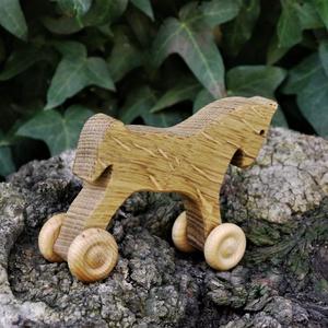 Játék fapaci, fa ló, gurulós fajáték (hollossybela) - Meska.hu