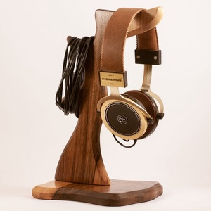 Fejhallgató tartó, Férfiaknak, Otthon & lakás, Lakberendezés, Tárolóeszköz, Famegmunkálás, Diófából készült fejhallgató tartó. A kép minta, rendelésre készül.\nMérete:30x16x15cm\n\n\n\n\n..., Meska
