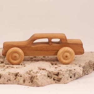 Játék fa kocsi, faautó, fakocsi, , Húzó & Tolójátékok, Játék & Gyerek, Famegmunkálás, Akácfából készült autó. Paraffinolajjal kezelve.\nMérete:14x5x4,5cm, Meska