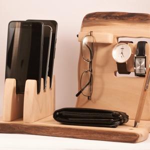3 Mobil-, szemüveg-, óra-, toll tartó, asztali rendező, Otthon & Lakás, Tárolás & Rendszerezés, Íróasztali tároló, Famegmunkálás, Platánfából készült tároló. 3 telefon, szemüveg 2 óra. és toll, ceruza. A kép minta, rendelésre kész..., Meska