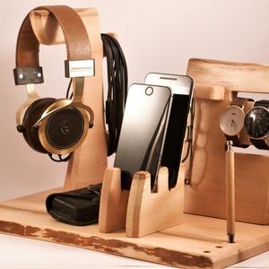 2 Mobil-, szemüveg-, fejhallgató, 2 óra-, toll tartó, asztali rendező, Otthon & Lakás, Tárolás & Rendszerezés, Íróasztali tároló, Famegmunkálás, Platánfából készült  rendező. A kép minta rendelésre készül. Kb. 8 nap\n\n\nMérete: szél 40cmx25cm, mag..., Meska