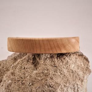 fa franciacsat, hajcsat, Ékszer, Ékszerkészítés, Famegmunkálás, Kőrisfából készült franciacsat, hajcsat, nagyobb, vastagabb hajba. A csat kis csavarral van rögzítve..., Meska