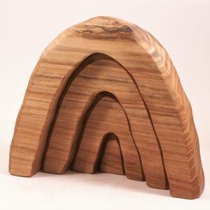 Fa építő, barlang, kirakó, Játék & Gyerek, Építőjáték, Famegmunkálás, Japánakácfából készült, szétszedhető\ngyerekjáték, vagy  szobadísz.\nSzíntelen paraffinolajjal kezelve..., Meska