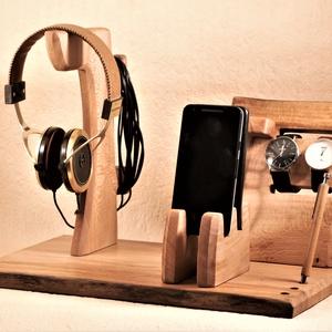 2 Mobil-, szemüveg-, fejhallgató, 2 óra-, toll tartó, asztali rendező, Otthon & Lakás, Tárolás & Rendszerezés, Íróasztali tároló, Famegmunkálás, Platánfából készült  rendező. A kép minta, rendelésre készül, kb. 8 nap.\n\n\nMérete: szél 40cmx25cm, m..., Meska