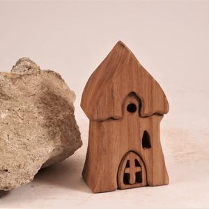 Fa házikó, fa építő, kirakó,  - Meska.hu