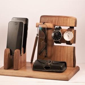 2 Mobil-, szemüveg-, óra-, toll tartó, asztali rendező, Otthon & Lakás, Tárolás & Rendszerezés, Íróasztali tároló, Famegmunkálás, Meska