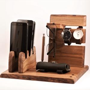 3 Mobil-, szemüveg-, 2 óra-,  3 toll tartó, asztali rendező, Otthon & Lakás, Tárolás & Rendszerezés, Íróasztali tároló, Famegmunkálás, Meska