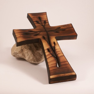 Mintás kereszt, fakereszt  - otthon & lakás - spiritualitás & vallás - kereszt - Meska.hu