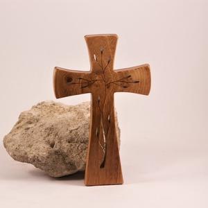 Mintás kereszt, fakereszt , Otthon & Lakás, Spiritualitás & Vallás, Kereszt, Famegmunkálás, Meska