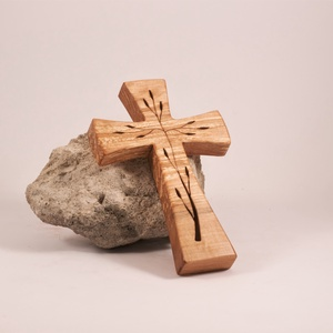 Mintás fakereszt, kereszt  - otthon & lakás - spiritualitás & vallás - kereszt - Meska.hu